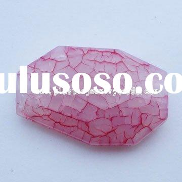 faceted Rectangle beads, faceted acryilc beads, rectangle acrylic beads