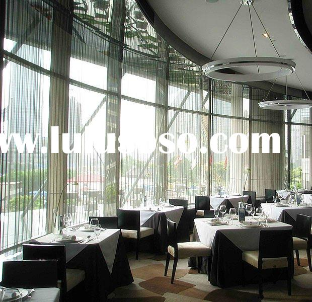 fashion decorative metal curtain for restaurant