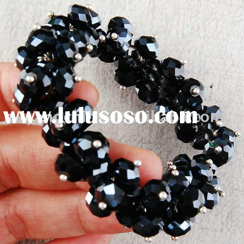 fashion rhinestone Crystal faceted beads bracelet stretch