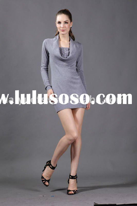 fashionale knit wear women pullover sweater new design for 2012