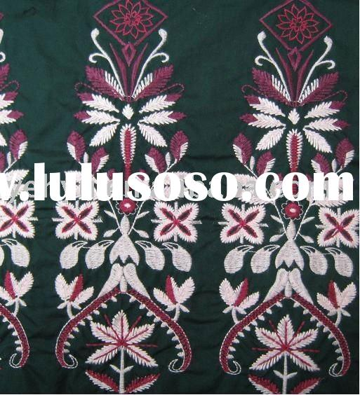 floral embroidery fabric for africa design
