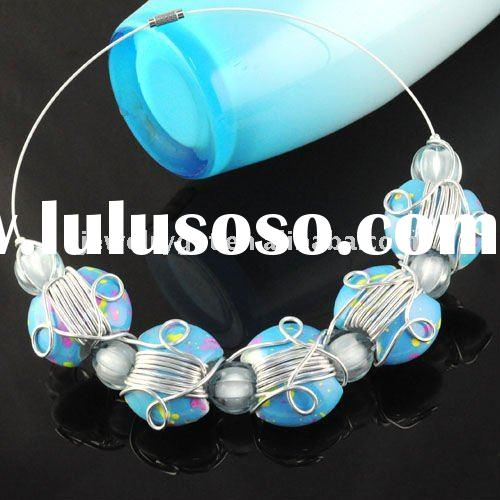 free shipping ,costume jewelry necklace, 2011 new design chunky style beaded choker nl-1332