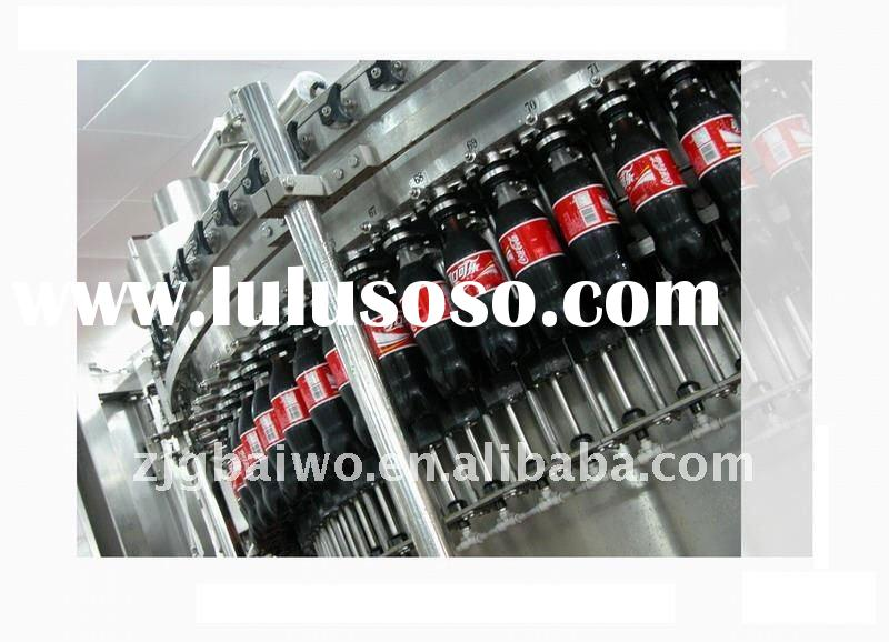 full automatic 3 in 1 PET or glass bottled gas drink filling machine