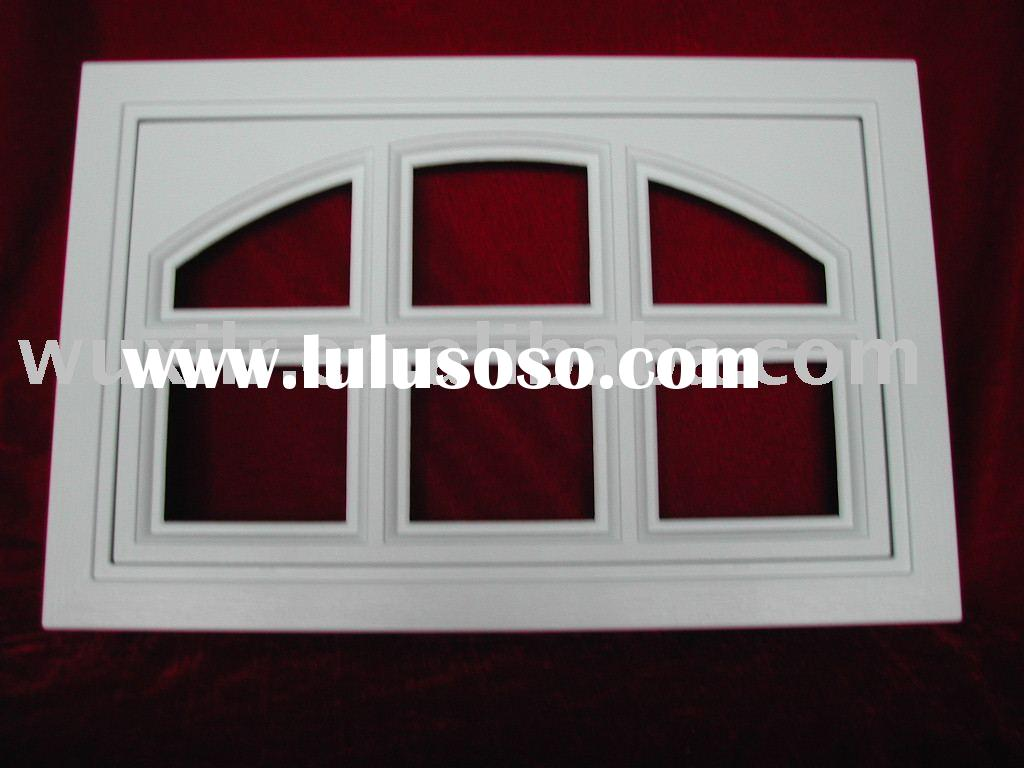Garage door window grille inserts