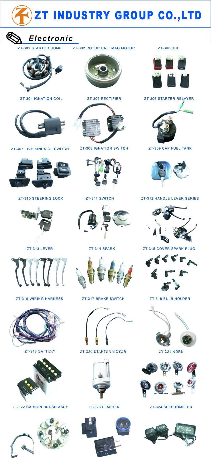 good quality motorcycle electric parts