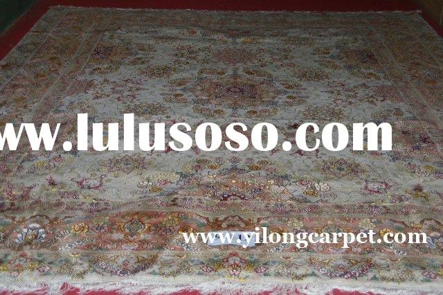 hand knotted silk/wool mixed rugs/carpets