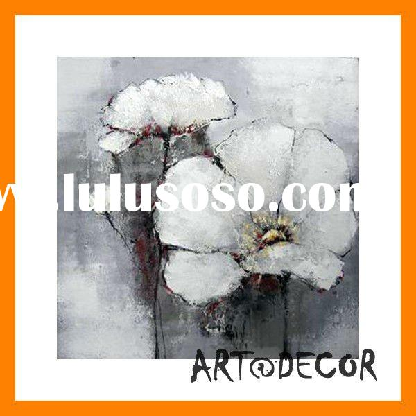 handpainted flower oil painting for wall decoration