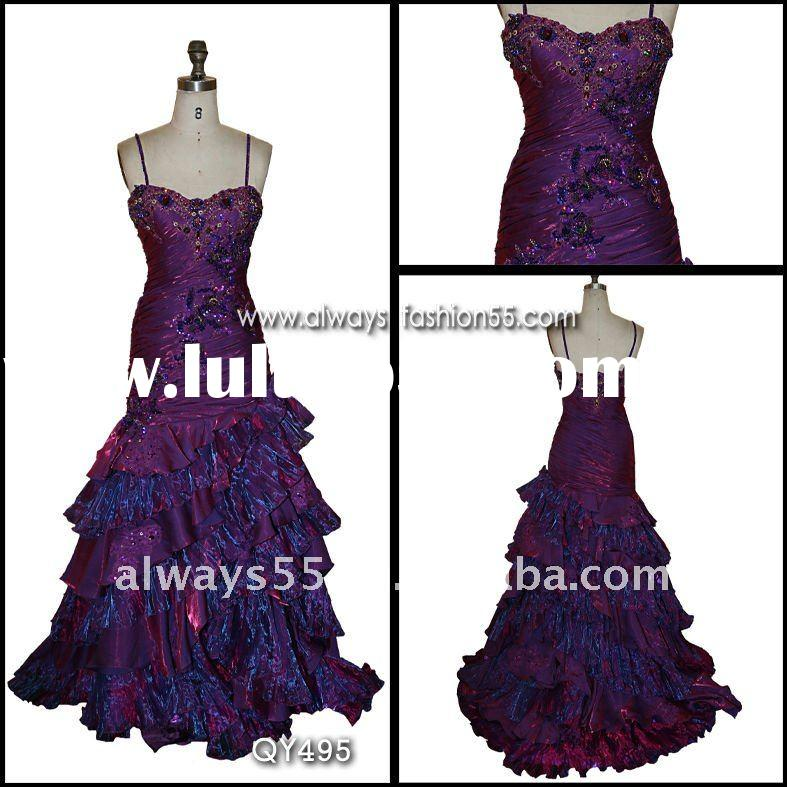 high quality cheap hot evening dresses qy495