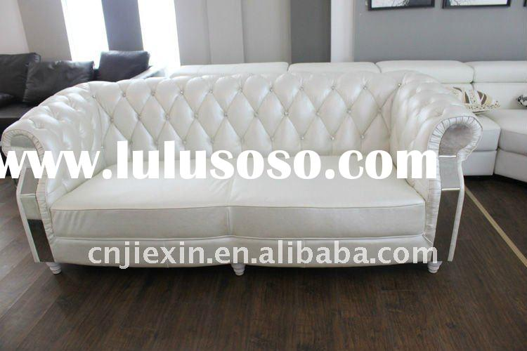 high quality chesterfield sofa, leather sofa living room furniture,