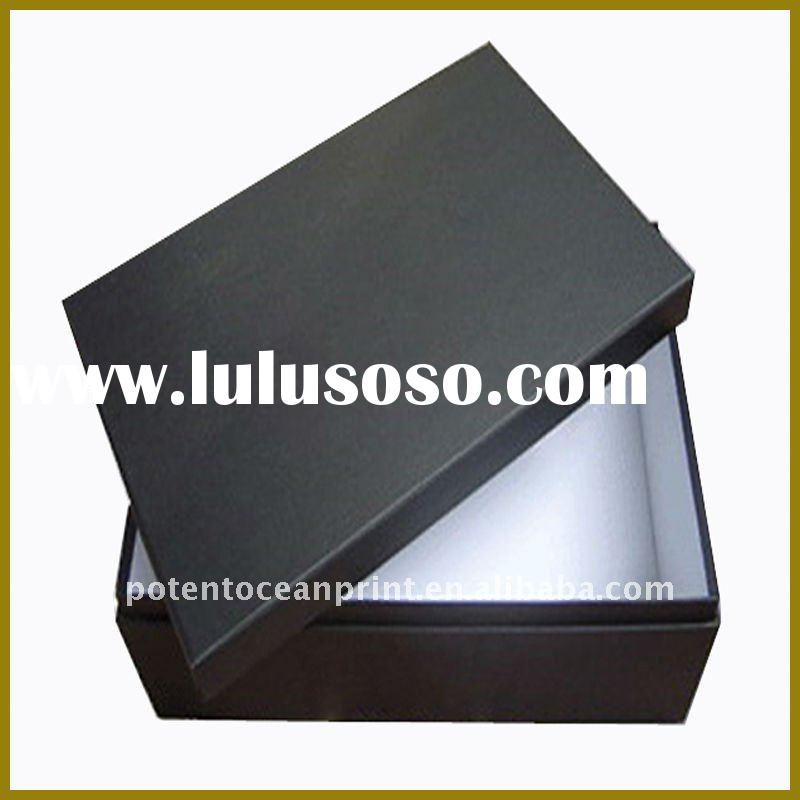 high quality matt black paper gift box