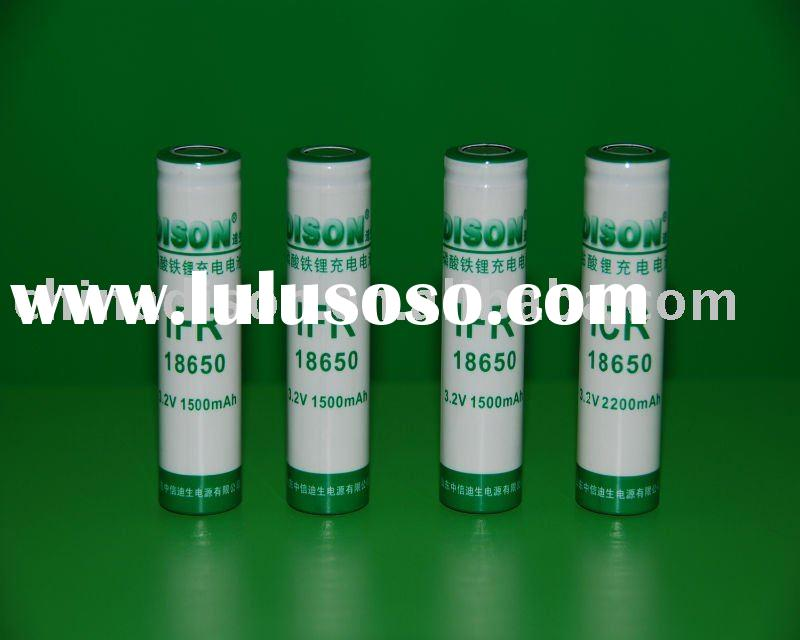 high safety 1500 cycles long life li-ion 3.2v 1500mAh cylinder 18650 rechargeable LiFePO4 battery