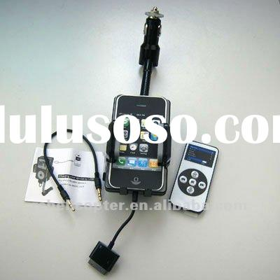 iPhone 4/3GS/3G iPOD FM Transmitter+Car Charger+Remote