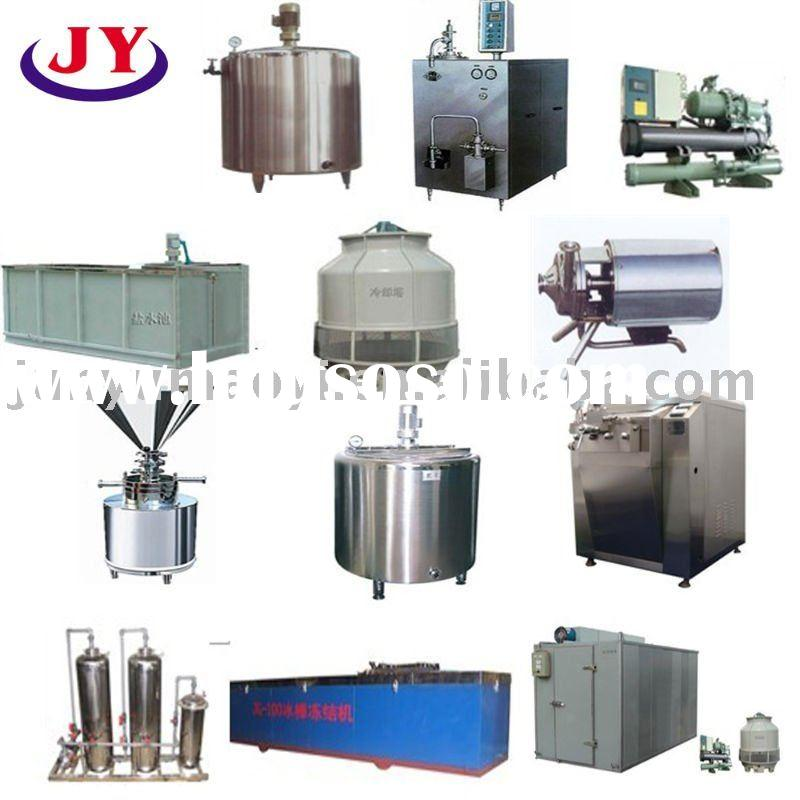 ice cream making machine ice cream production line made of aging tanks,continuous freezing machine,c