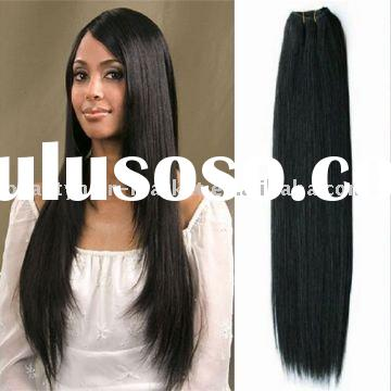 indian remy hair silky straight hair weft 24''