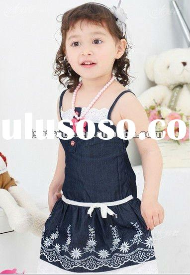 kids wear, cute summer girl's dress, fashion kids dress
