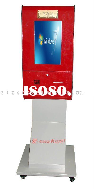 kiosk with wheels,advertising kiosk with coupon printer,food serving kiosk