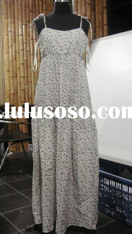 lady flower print long dress