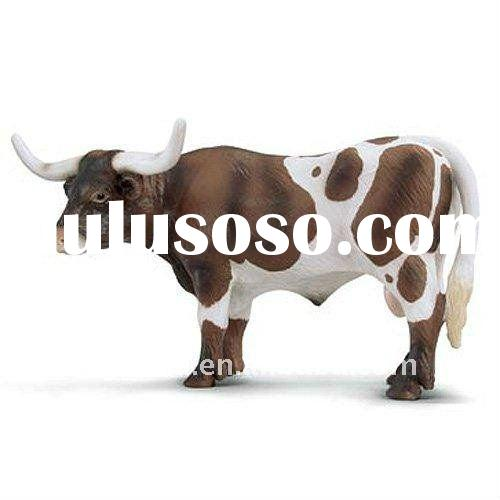 large plastic cow animal toy/ 3D plastic animal toys