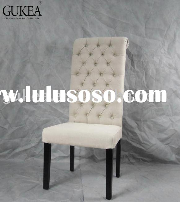 linen fabric and high back Dining room chair, chair GK512