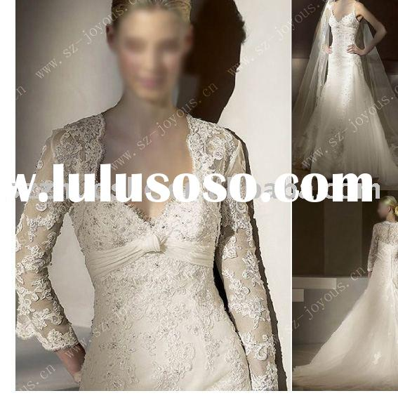 long sleeve wedding dress lace JK1002