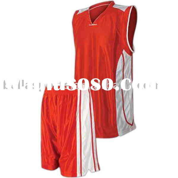 men's polyester reversable customized basketball uniform for training of 2011 the newest des