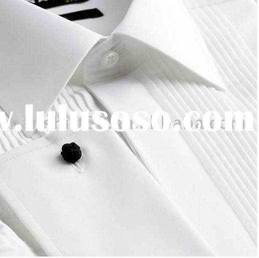 mens long sleeve tuxedo shirts 100 cotton 100 cotton white tuxedo dress