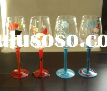 merry christmas hand painted glass