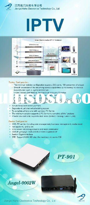 mini iptv solution for hotel/ hospital/school including network management system and set-top box