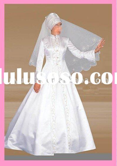 muslim wedding gown ly166