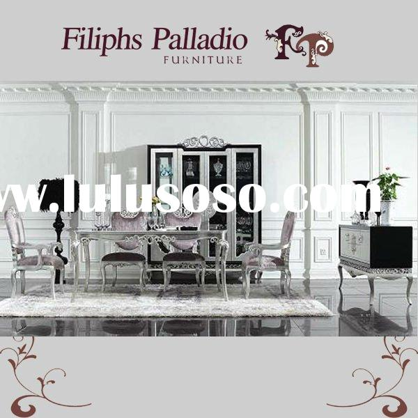 Outstanding  classic dining room furnitures - silver leaf gilding luxury dining set 600 x 600 · 57 kB · jpeg