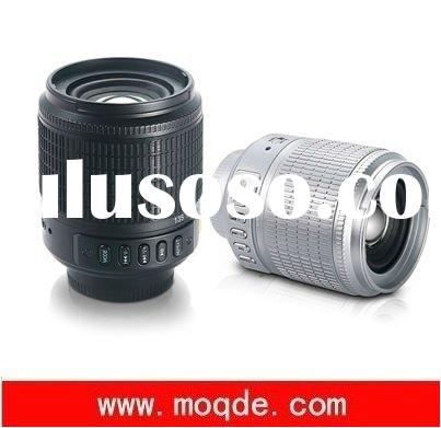 new fancy camera lens style mini Speaker with TF,FM radio,computer Speakers/portable speakers/USB sp