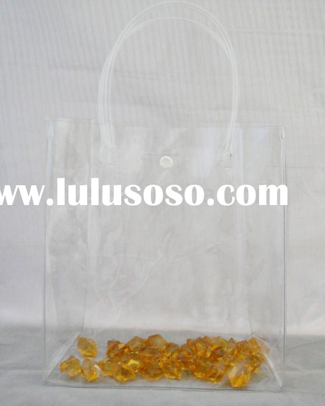 newest pvc transparent bag with handle for gift