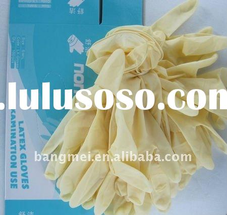 non sterile disposable latex gloves for exam with AQL1.5