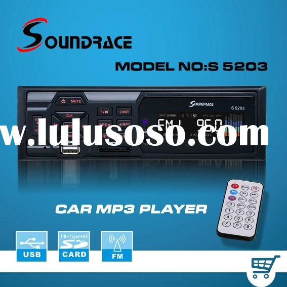 one din deckless car mp3 player with USB SD radio