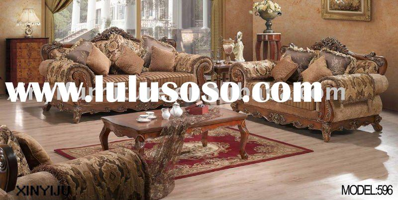 pictures of wooden sofa designs 596 (1+2+3)