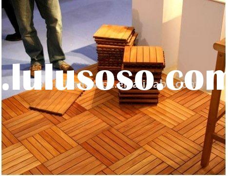 pine color wood composite decking tiles Ecological WPC composite decking for pool or garden