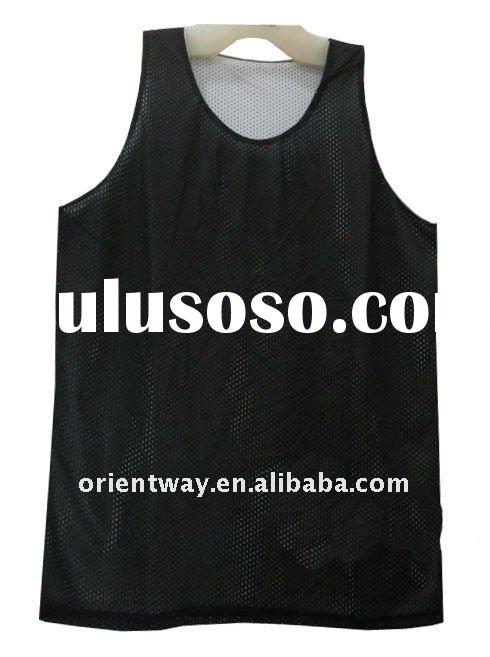 plain high quality mesh polyester basketball jersey