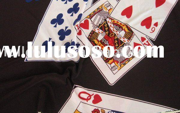 poker design knitted fabric with printed