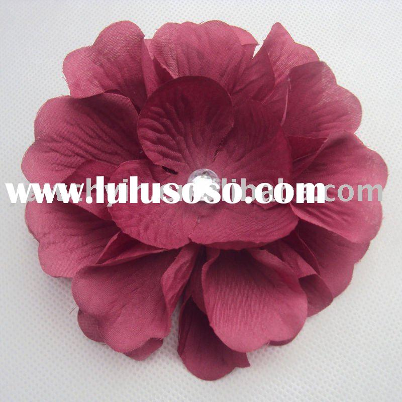 polyster fashion flower hair clip accessory