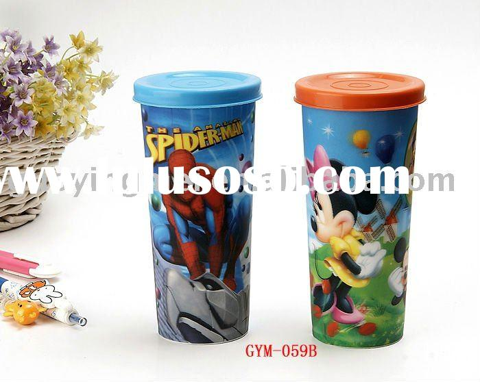 promo plastic coffee cup mugs with lid,cheap thermal cups wholesale
