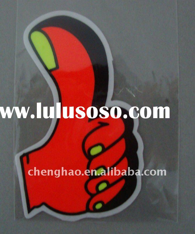 pvc glow in the dark car sticker