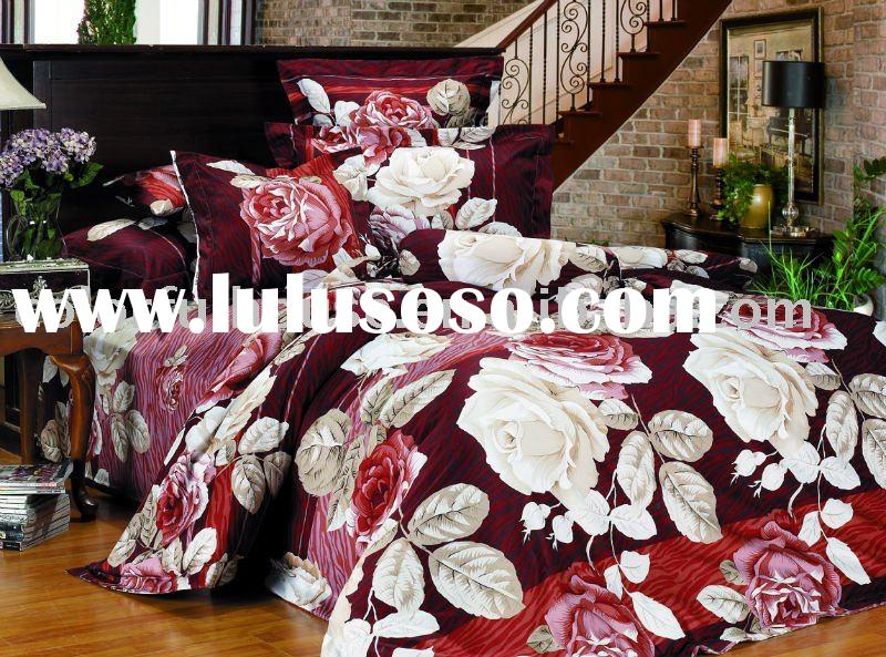 reactive print quilt/duvet cover/sheet set