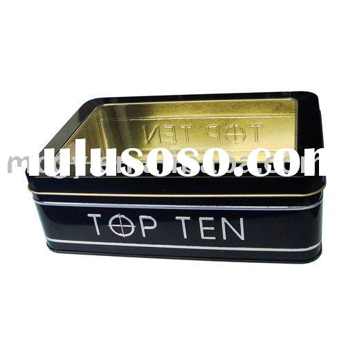 rectangle tin box with clear window