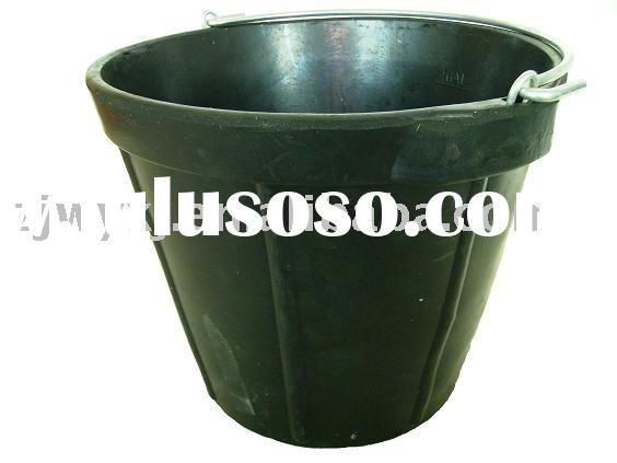 recycled rubber construction pails,strong rubber horse feeder bucket