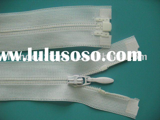 reverse nylon zipper(invisible zipper) open end