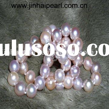 round freshwater pearl necklace with 925 silver clasp