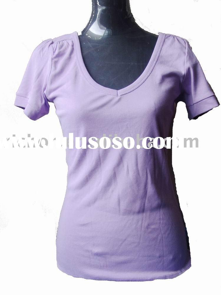 Tshirts women tshirts women manufacturers in for Round neck t shirts for ladies