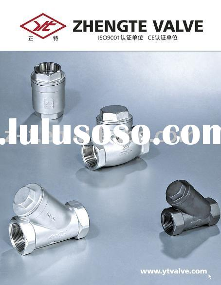 screwed swing check valves and Y-type check valve, strainer (carbon steel and stainless steel)