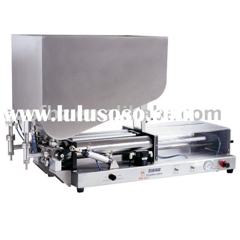 semi automatic paste filling machine with 2 heads