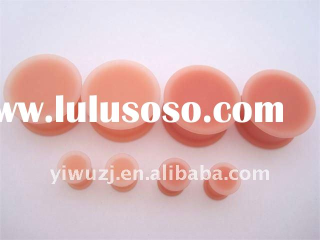 silicone double flare ear plugs body piercing jewelry,ear plugs,ear gauge, body piercing jewerly
